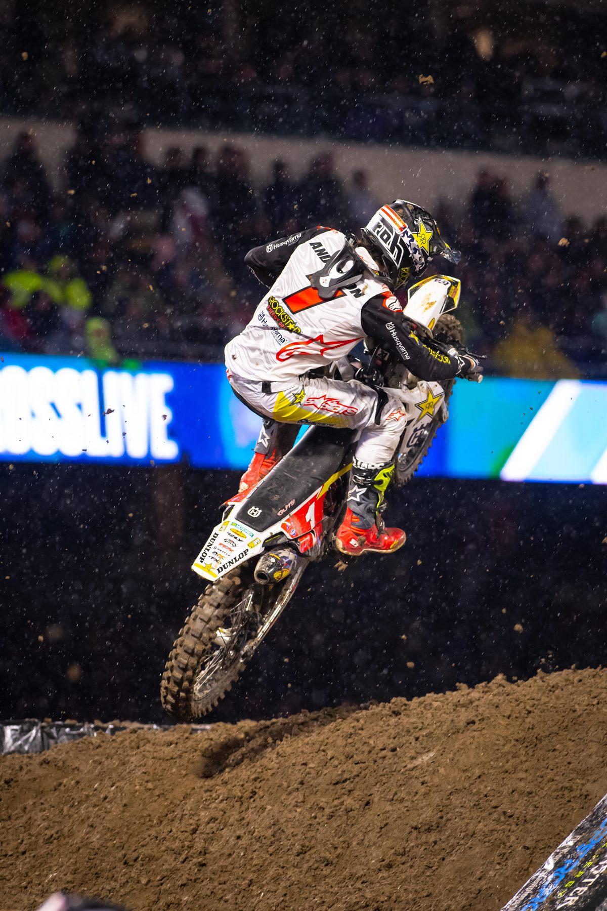 Rockstar Energy Husqvarna Factory Racing's Jason Anderson - Supercross Anaheim I (Photo_ Simon Cudby)