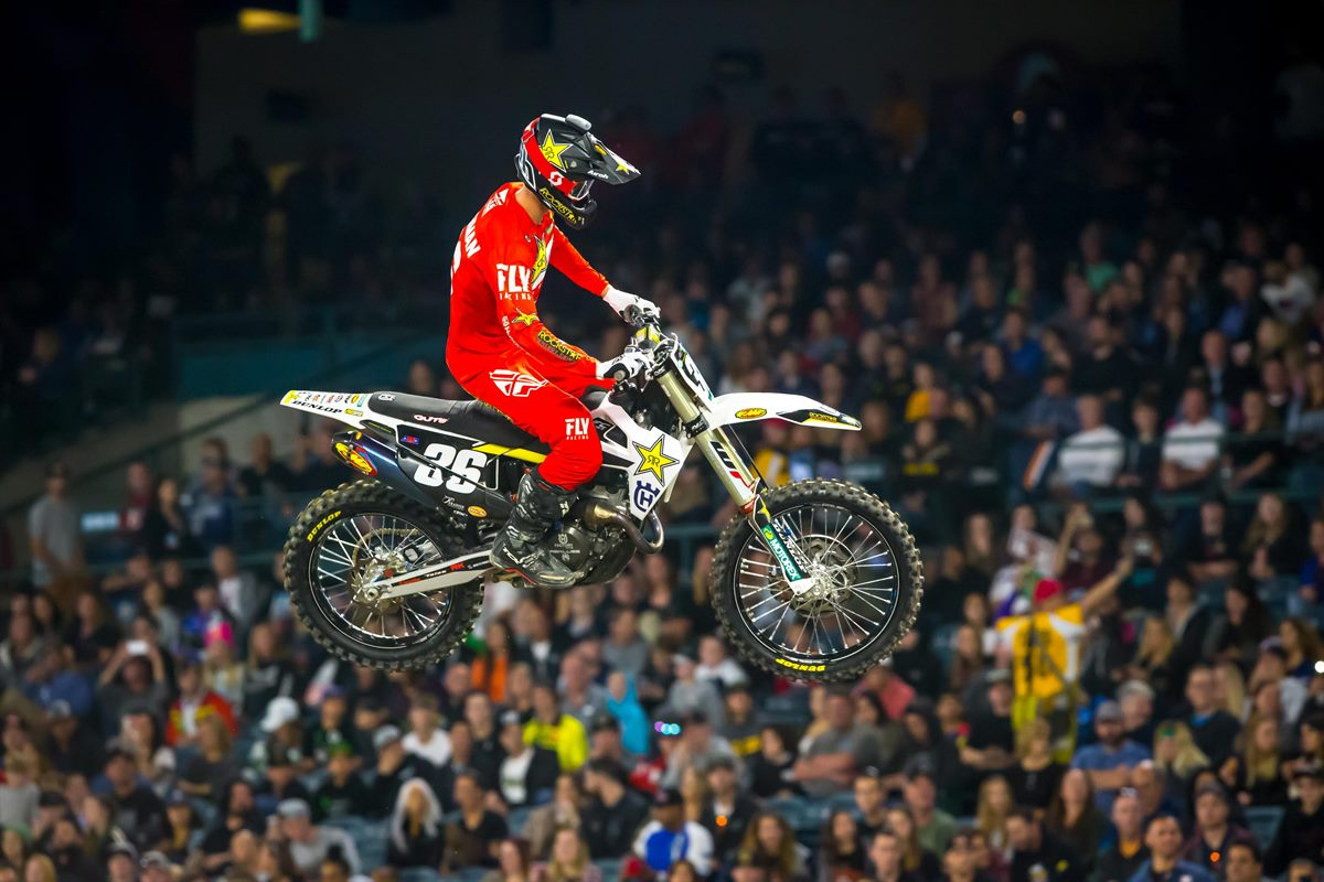 Rockstar Energy Husqvarna Factory Racing's Michael Mosiman - Anaheim 2 SX (Photo_ Simon Cudby)(5)