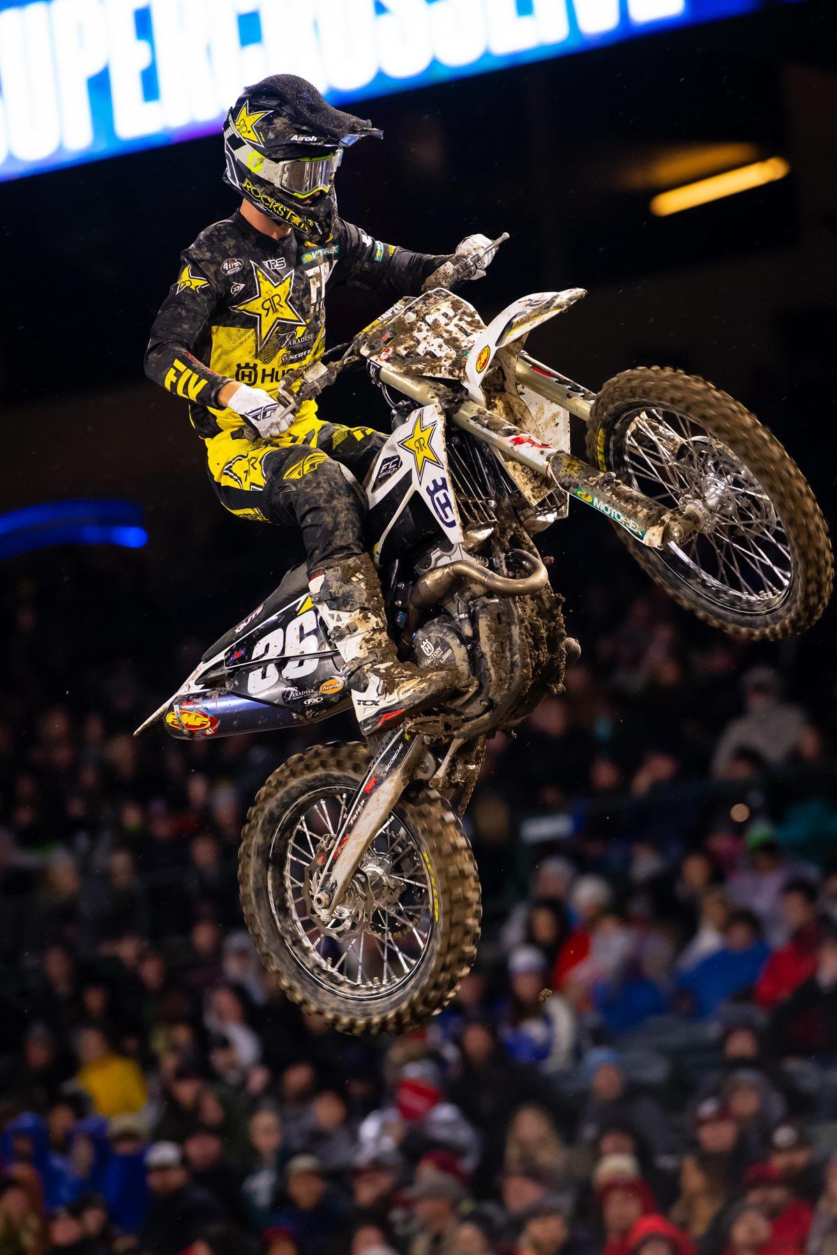 Rockstar Energy Husqvarna Factory Racing's Michael Mosiman - Supercross Anaheim I (Photo_ Simon Cudby)(