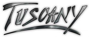 Tuscany logo vector steel lite bg highres