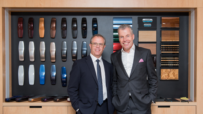 ROB THOMSON, DEALER PRINCIPAL FOR ROLLS-ROYCE MOTOR CARS BRISBANE, (RIGHT) TORSTEN MÜLLER-ÖTVÖS, CEO OF ROLLS-ROYCE MOTOR CARS