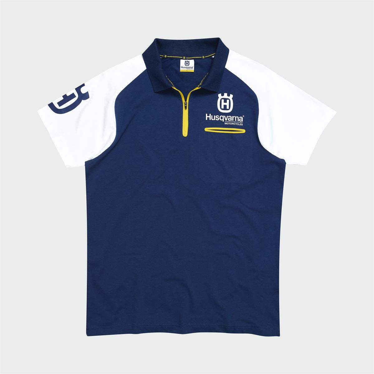 2019 HUSQVARNA REPLICA TEAM WEAR - REPLICA TEAM POLO FRONT