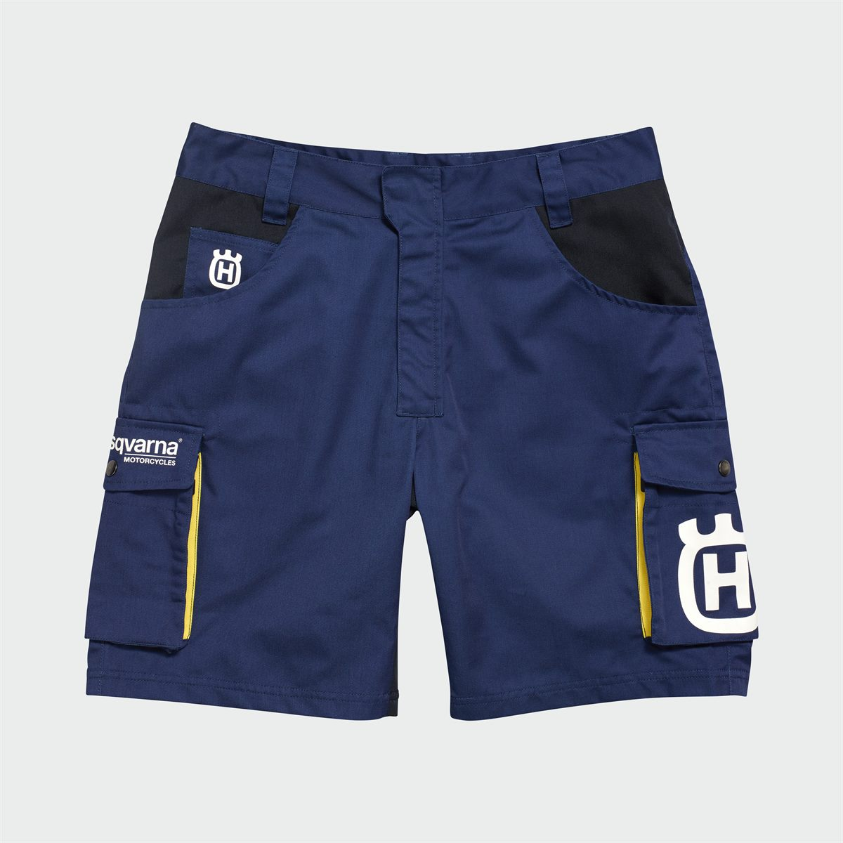 2019 HUSQVARNA REPLICA TEAM WEAR - REPLICA TEAM SHORTS FRONT