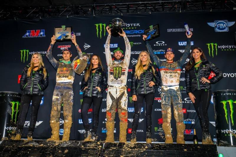 450 podium - Monster Energy Supercross San Diego 2019