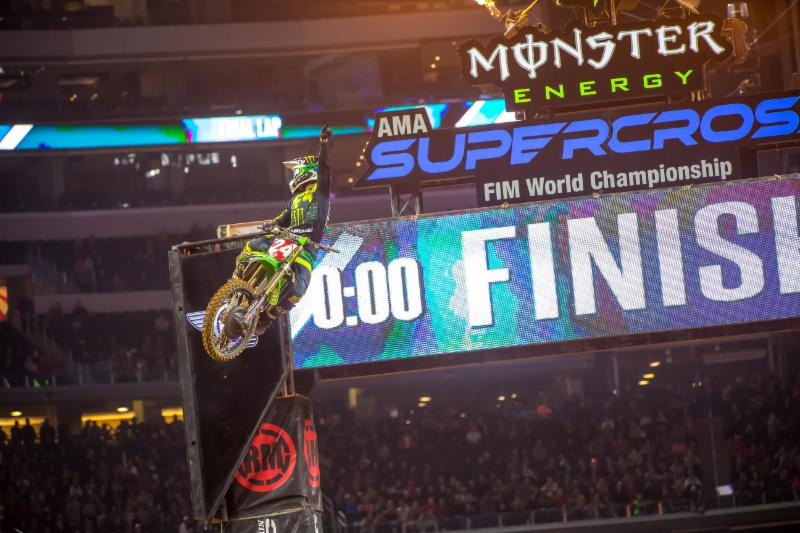 Austin Forkner takes his second win of the season in the Eastern Regional 250SX Class - Arlington Monster Energy Supercross