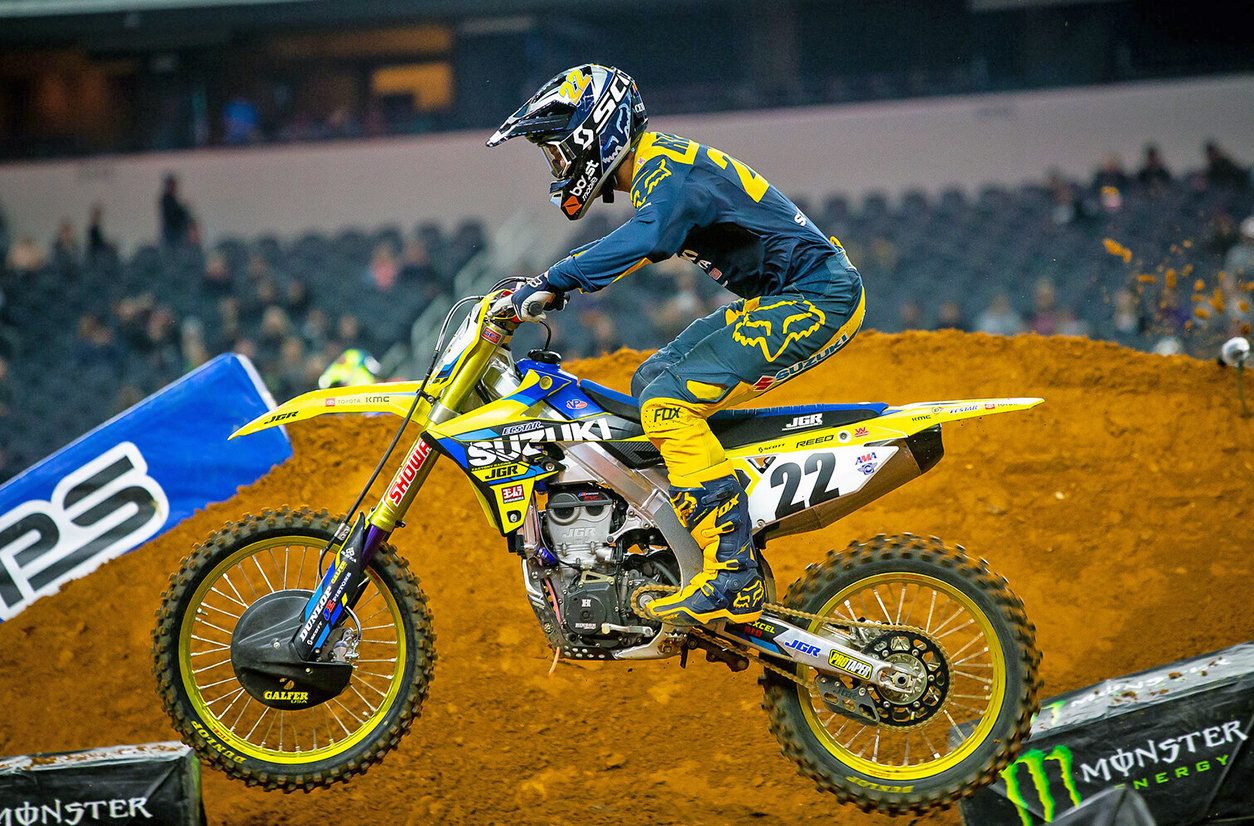 Chad Reed (#22) remains in the top-ten in 450 Championship points - JGRMX/Yoshimura/Suzuki Factory Racing