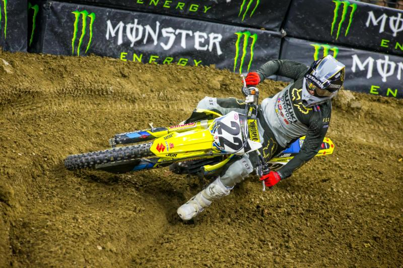Detroit - Monster Energy Supercross Triple Crown - Chad Reed continues to set records as his 3rd place finish earned him his 132nd podium