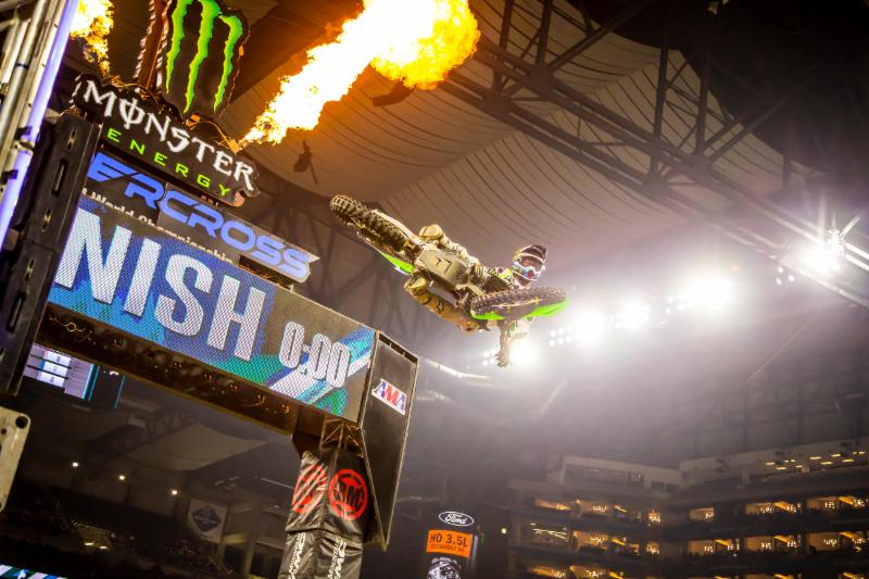 Detroit - Monster Energy Supercross Triple Crown - Eli Tomac goes 1-1-6 in the three Main Event