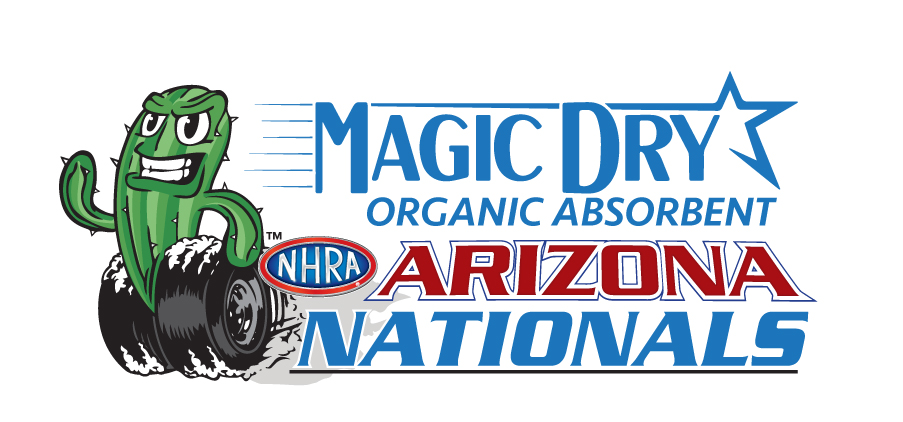 Magic Dry Organic Absorbent NHRA Arizona Nationals logo