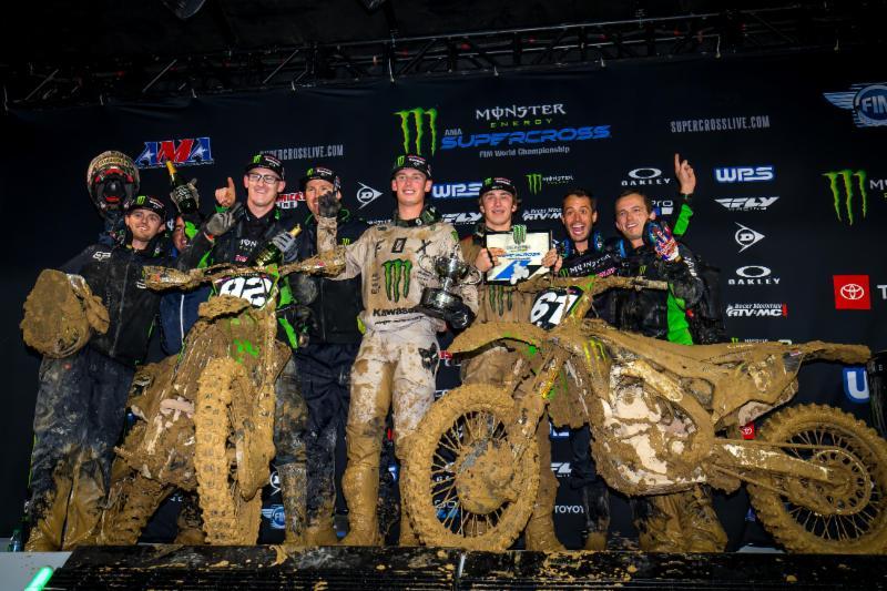 Monster Energy-Pro Circuit Kawasaki - Adam Cianciarulo - rookie Garrett Marchbanks nabbing his first podium - Monster Energy Supercross San Diego 2019