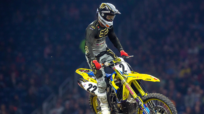 No other rider in history has stood on as many Supercross podiums as Chad Reed (#22) - Detroit Monster Energy Supercross