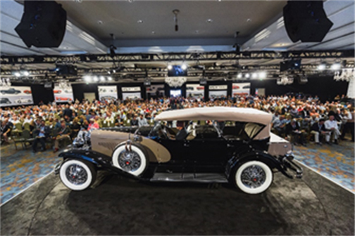 1930 Duesenberg Model J 'Sweep Panel' Dual-Cowl Phaeton (Andrew Miterko © 2019 Courtesy of RM Sotheby's) Amelia Island