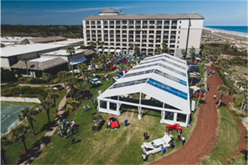 An overview of RM Sotheby's 2019 Amelia Island preview on the oceanfront lawn at the Ritz-Carlton (Darin Schnabel © 2019 Courtesy of RM Sotheby's) Amelia Island