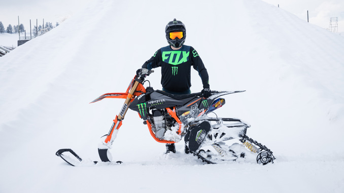 Monster Energy's Kyle Demelo Lands the World's First-Ever Front Flip on a Snow Bike