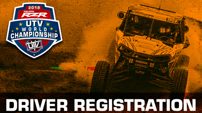 2019 UTV World Championship Driver Registration