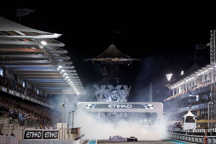 A look at Yas Marina Circuit during the Formula 1 Etihad Airways Abu Dhabi Grand Prix