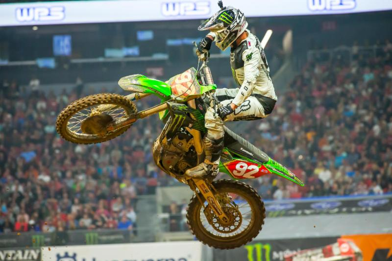 Adam Cianciarulo keeps the red plate in the Western Regional 250SX Class - Atlanta Monster Enegy Supercross