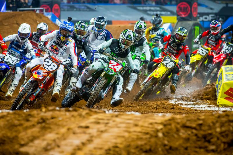 Austin Forkner (24) takes third - Atlanta Monster Enegy Supercross