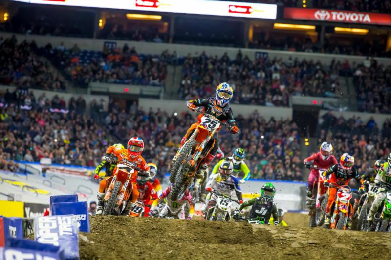 Marvin Musquin (25) led every lap of the 450SX Class Main Event - Monster Energy Supercross Indianapolis