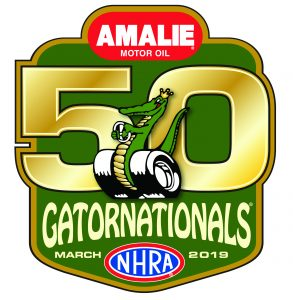 NHRA 50th Gatornationals logo
