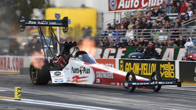 Top Fuel - Clay Millican - DENSO Spark Plugs Four-Wide Nationals - action