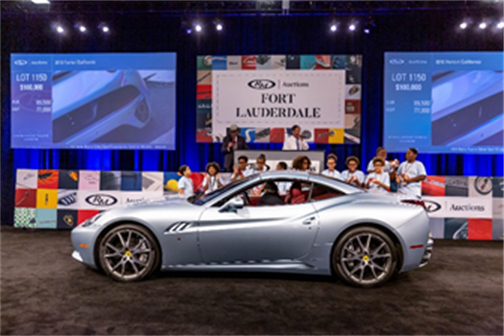 2010 Ferrari California sold with a portion of proceeds to benefit The Boys & Girls Club of Broward County (Andrew Miterko © 2019 Courtesy of RM Auctions) Fort Lauderdale