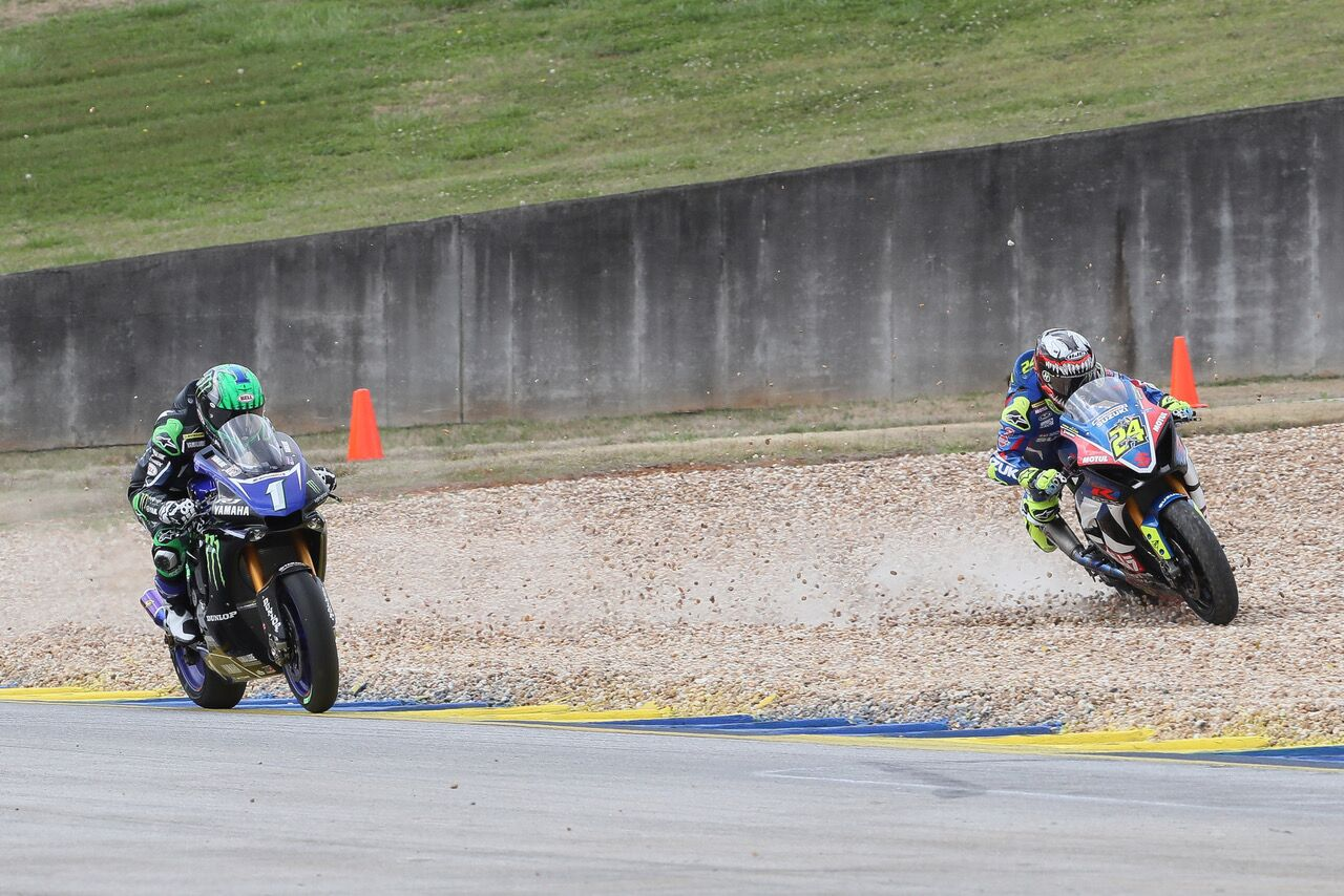 Cameron Beaubier (1) won the MotoAmerica season opener - Road Atlanta
