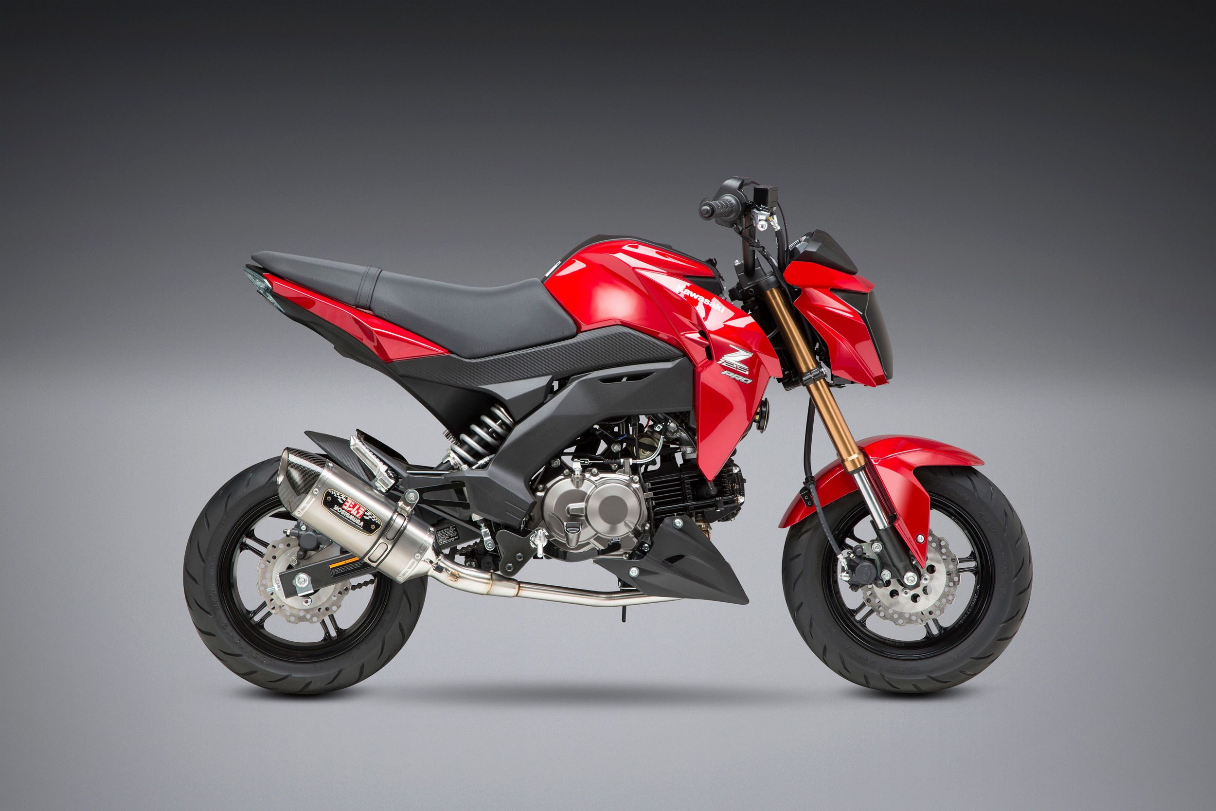 2019 Kawasaki Z125 Pro with Yoshimura R-77 stainless Race Series system