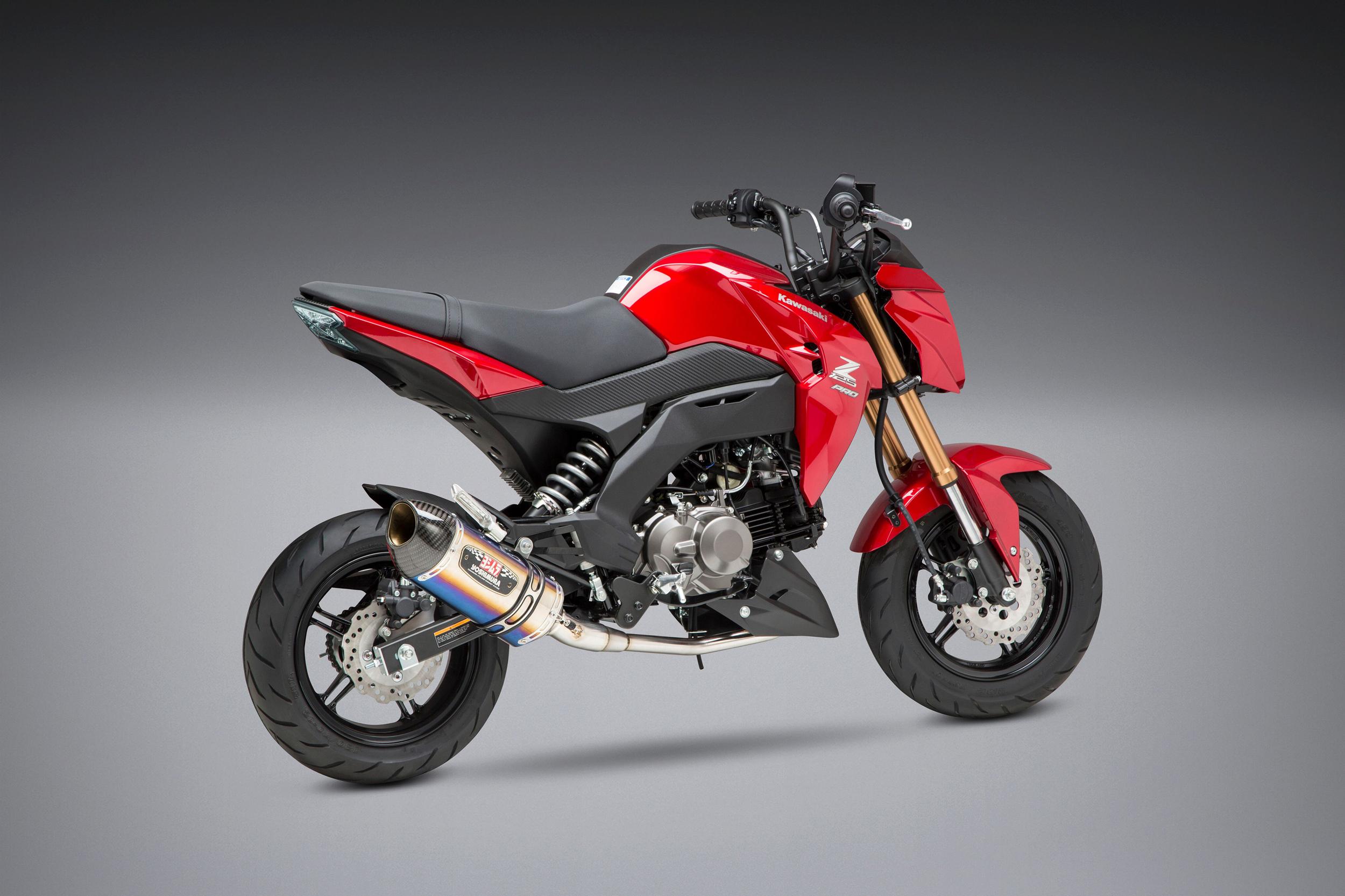 2019 Kawasaki Z125 Pro with Yoshimura R-77 titanium Race Series system