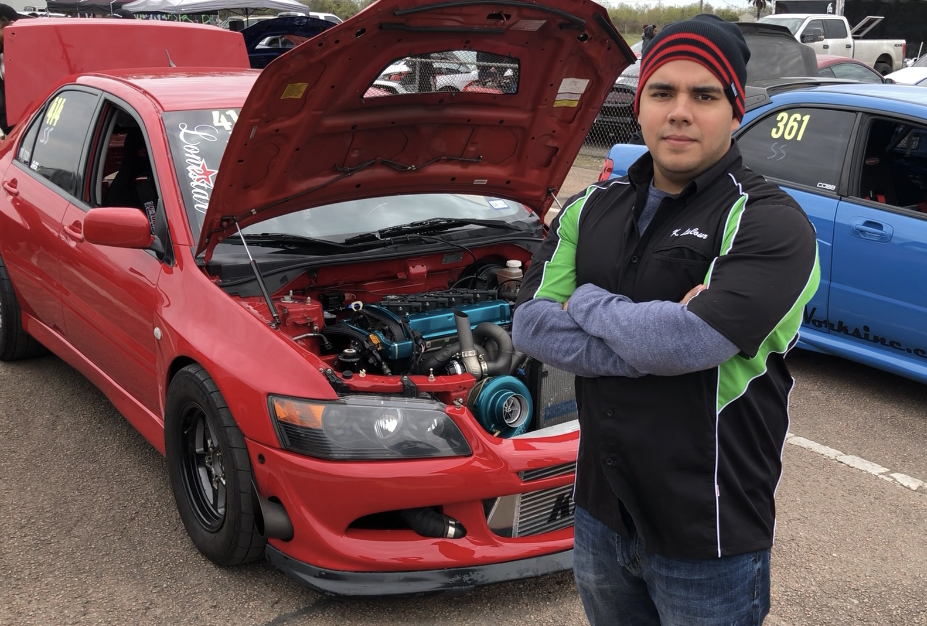 Keenen LaCour won the first SEMA Young Guns Regional title at TX2K in Houston with his 2003 Mitsubishi Evo8