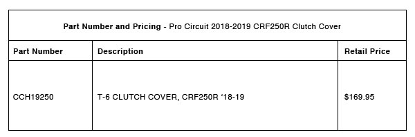 Pro Circuit 2018-2019 CRF250R Clutch Cover - Part-Number-Pricing-R-1-19