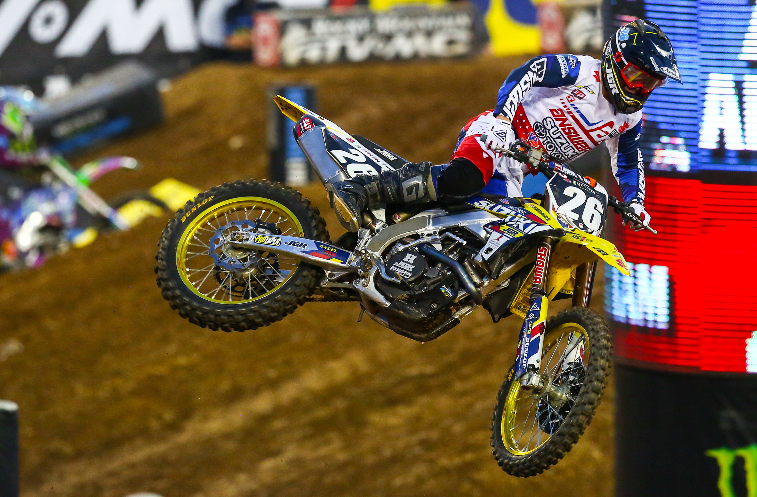 JGRMX - Alex Martin (#26) flew past the checkered flag to grab a top-ten finish on his RM-Z250 - Nashville Monster Energy Supercross