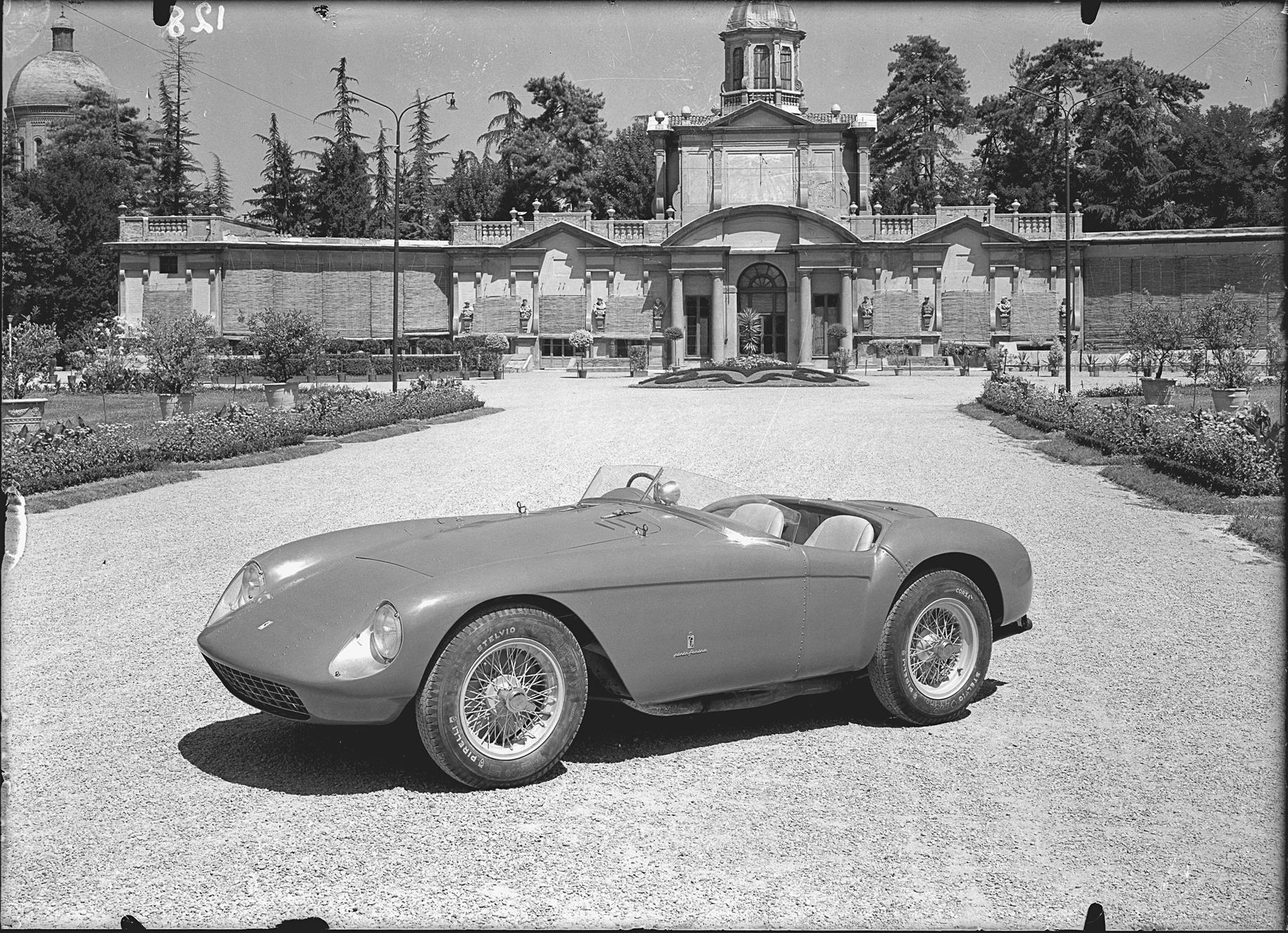 Chassis no. 0448 MD as seen in official Pinin Farina press photographs (Courtesy of Ferrari S.p.A.) RM Sotheby's Villa Erba sale