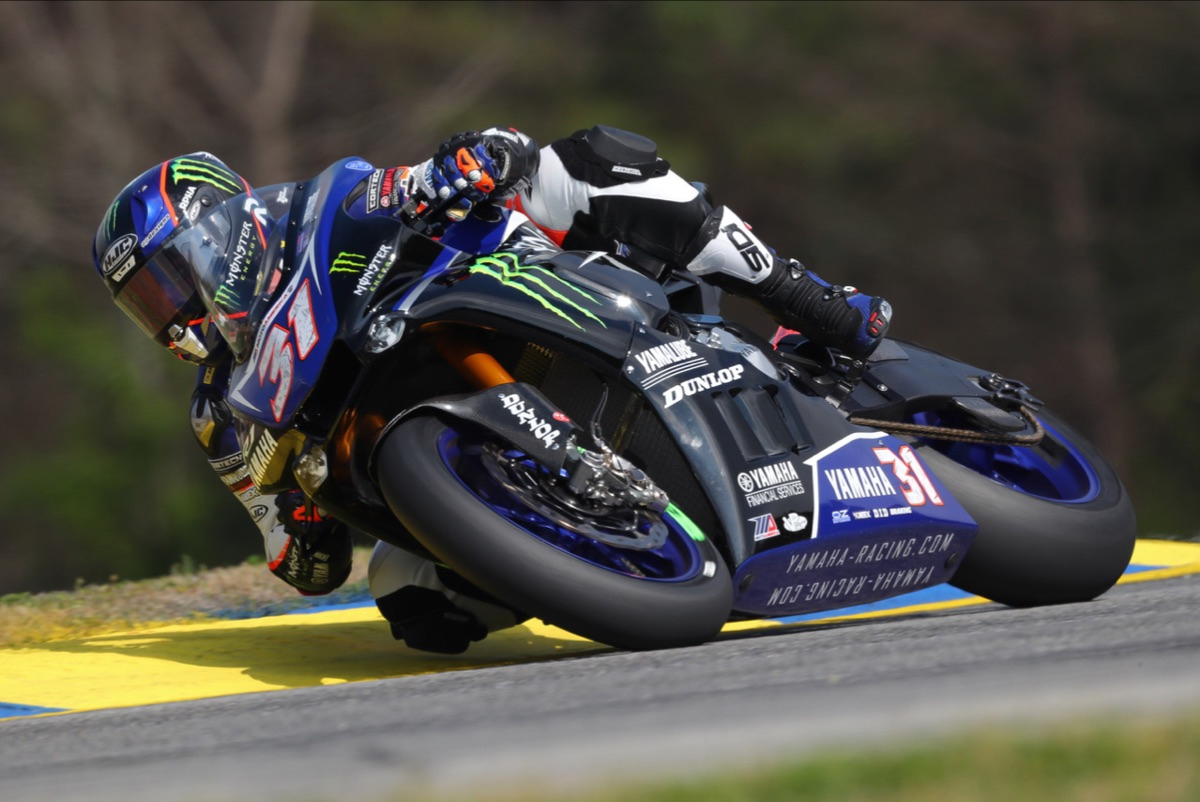 Garrett Gerloff led the EBC Brakes Superbike pack on the opening day of the 2019 MotoAmerica Series