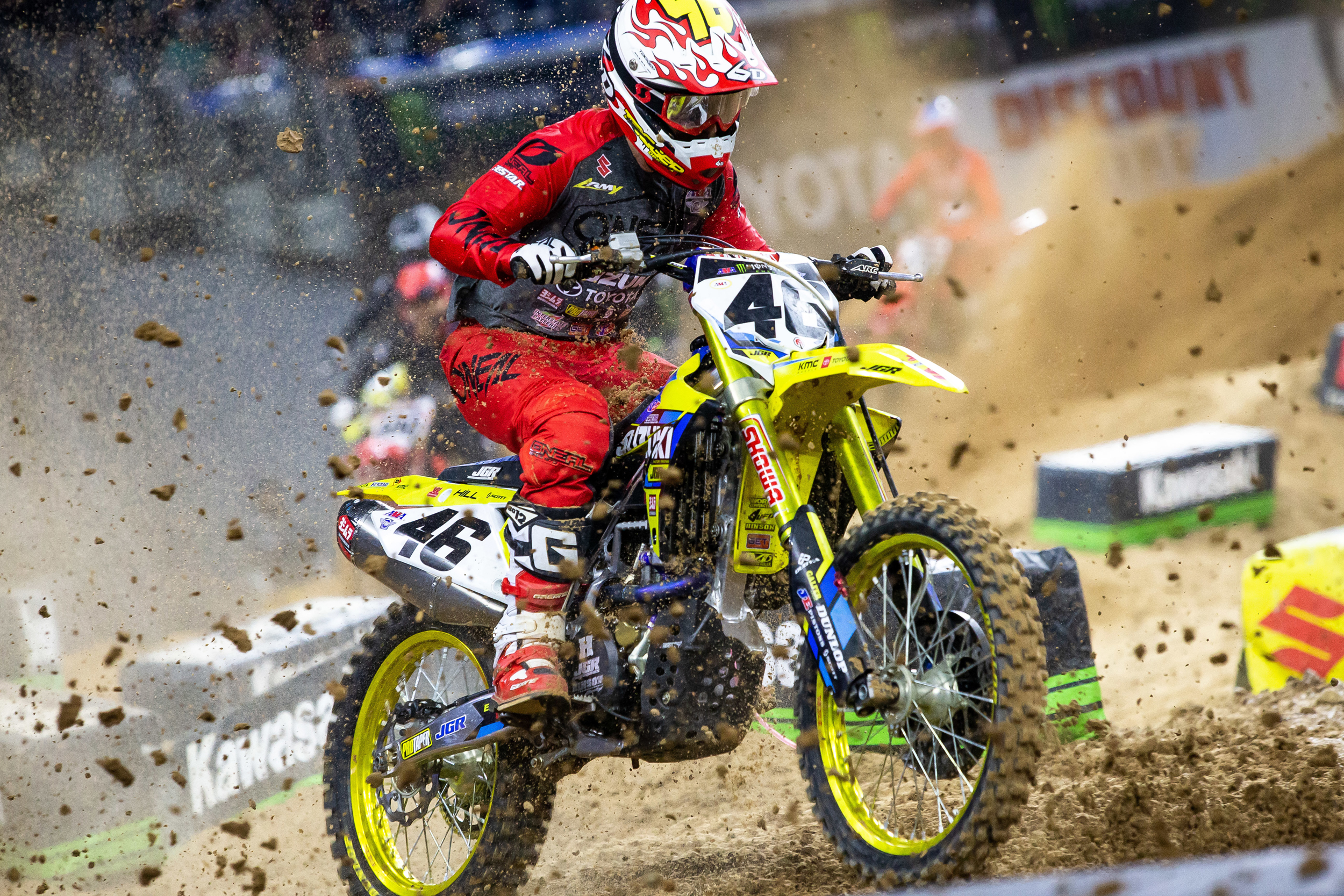 Justin Hill (#46) tackled Houston's technical track on his RM-Z450
