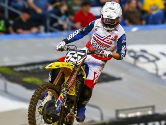 JGRMX - Kyle Peters (#55) charges through the pack on his RM-Z250 for a season-best finish - Nashville Monster Energy Supercross