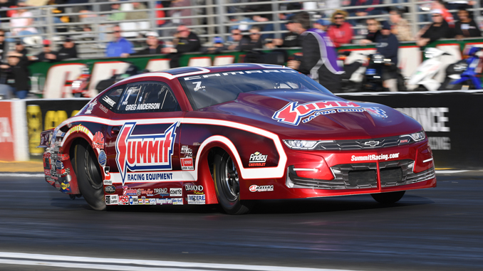Pro Stock - Greg Anderson - DENSO Spark Plugs Four-Wide Nationals - action