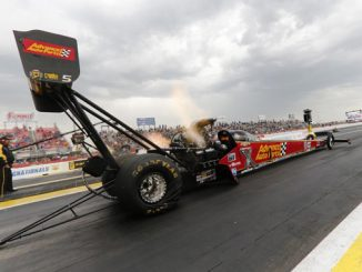 Top Fuel - Brittany Force - Mopar Express Lane SpringNationals - action