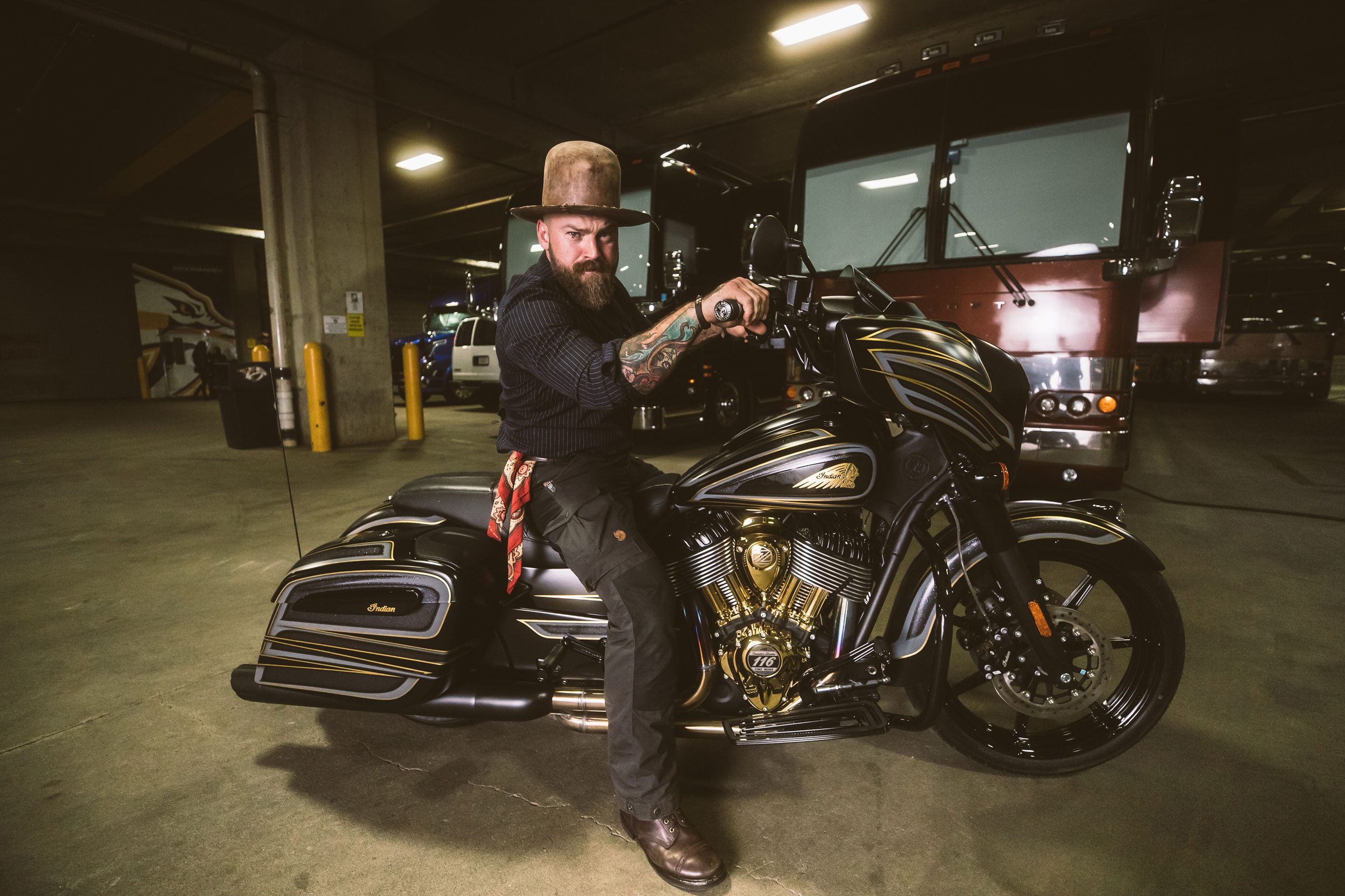 Zac Brown Collective & Indian Motorcycle Celebrate American Craftsmanship with Custom Indian Chieftain Dark Horse