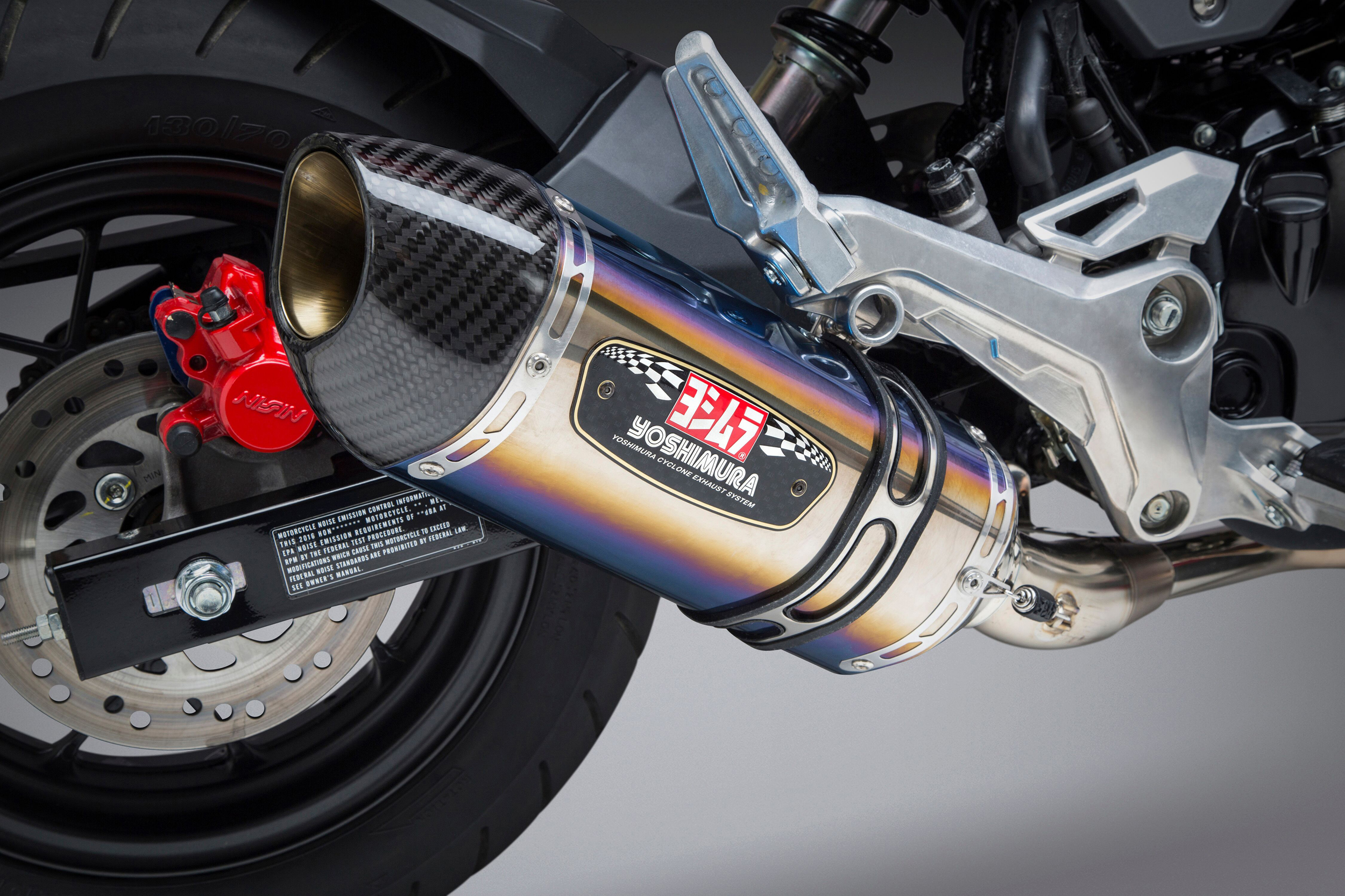 2019 Honda Grom with Yoshimura R-77 titanium Race Series system