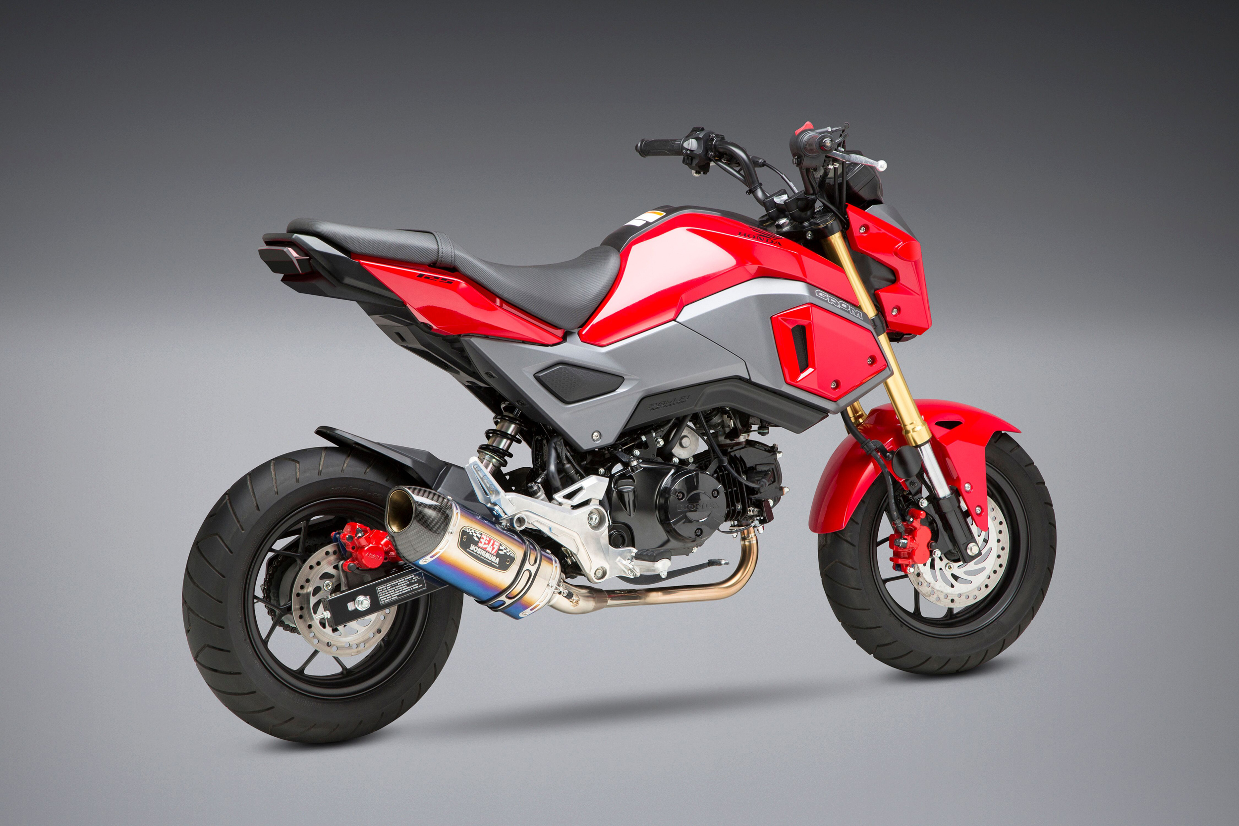 2019 Honda Grom with the Yoshimura R-77 titanium Race Series system