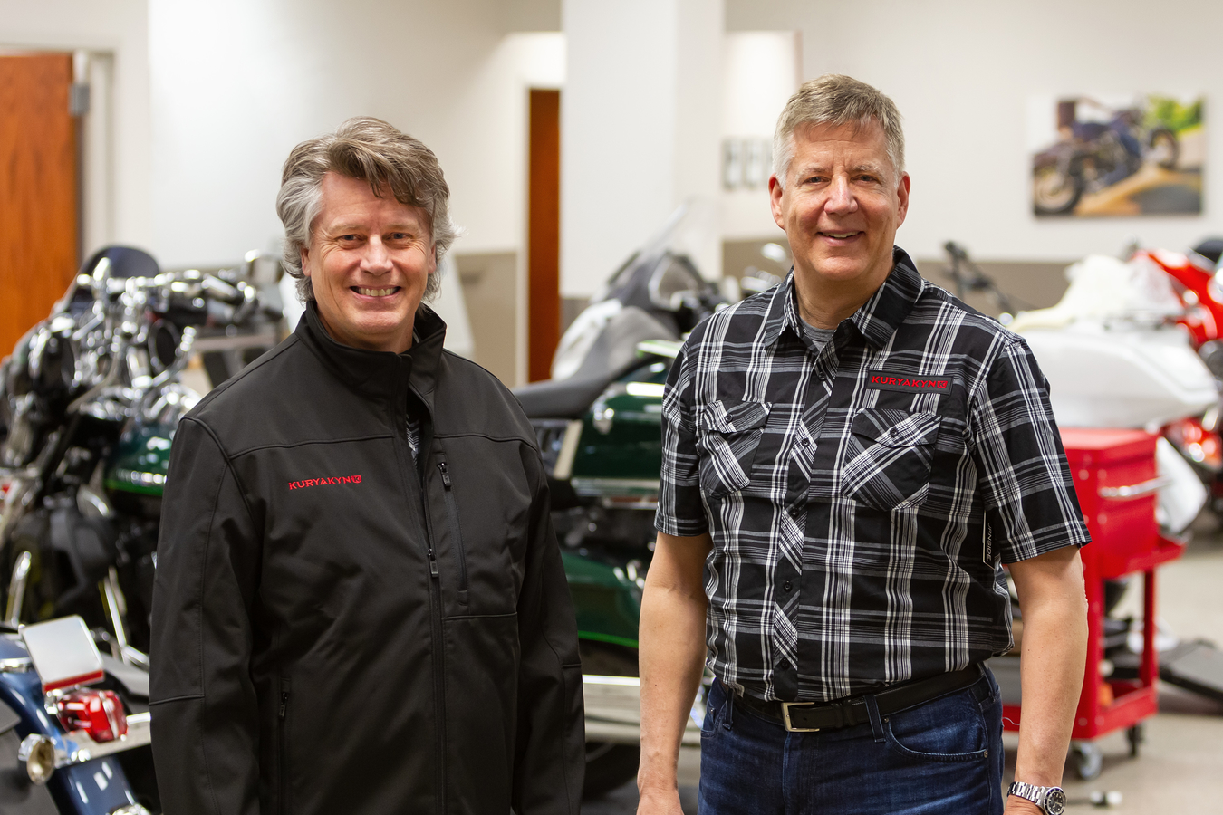Kuryakyn recently named powersports industry veterans Tony Stefanelli (left) and Lars LaVine to senior-level roles at the Somerset WI-based company. Stefanelli is Vice President of Product Development & Engineering and Lavine is Vice President of Global Sourcing & Supply Chain Operations.