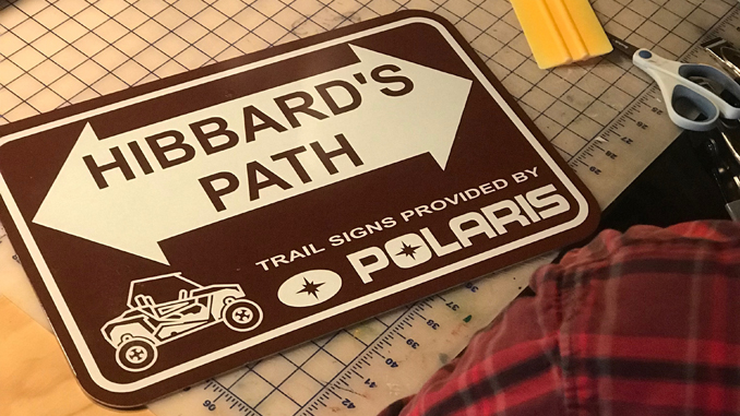 trail sign polaris foundation