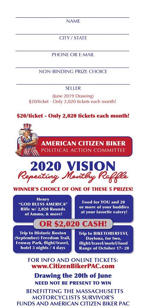 American Citizen Biker PAC - American Citizen Biker PAC - June's 2020 Vision Raffle