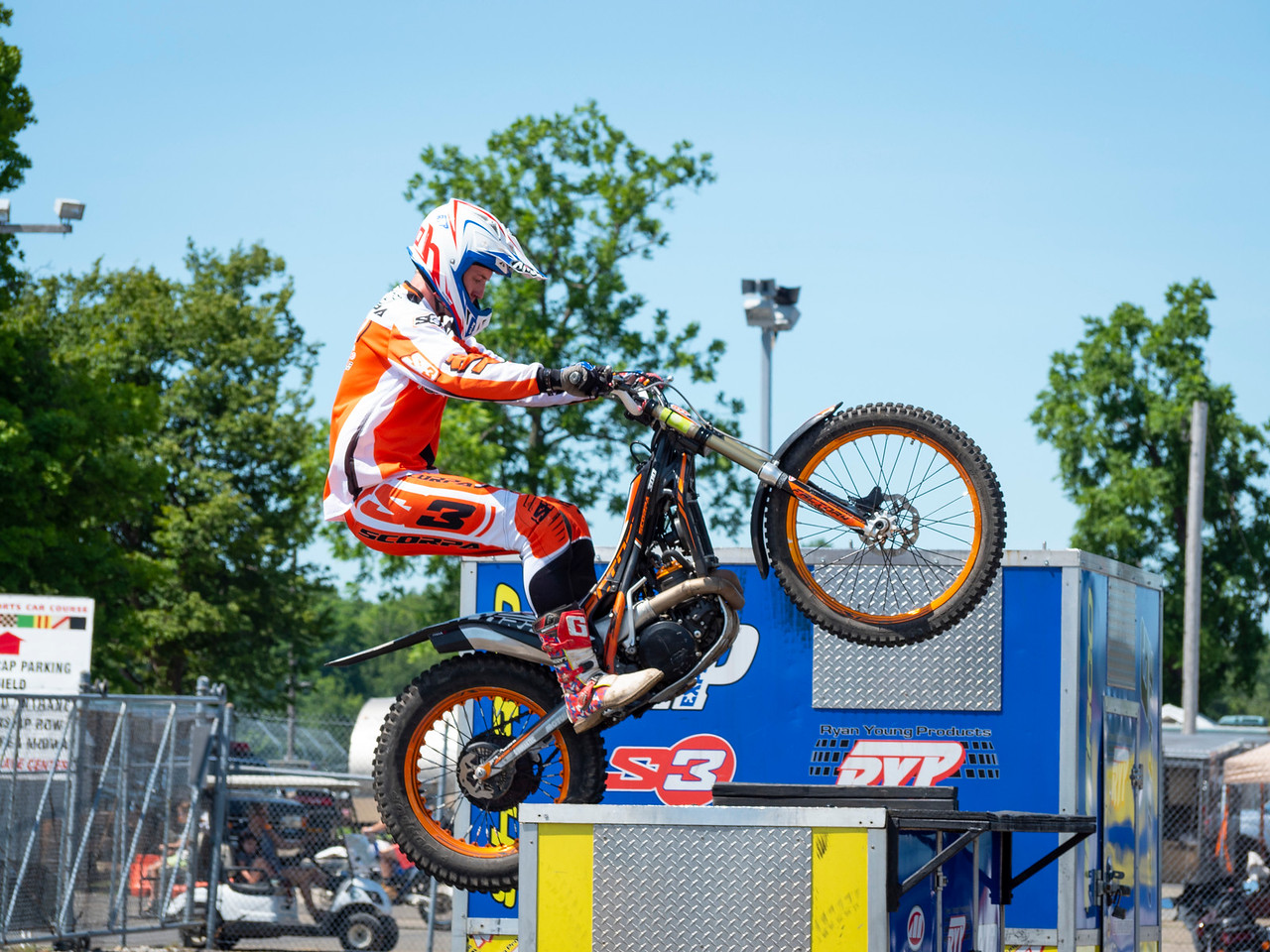 Xtreme Trials exhibition at 2018 AMA Vintage Motorcycle Days (Credit- Larry Hamel-Lambert)