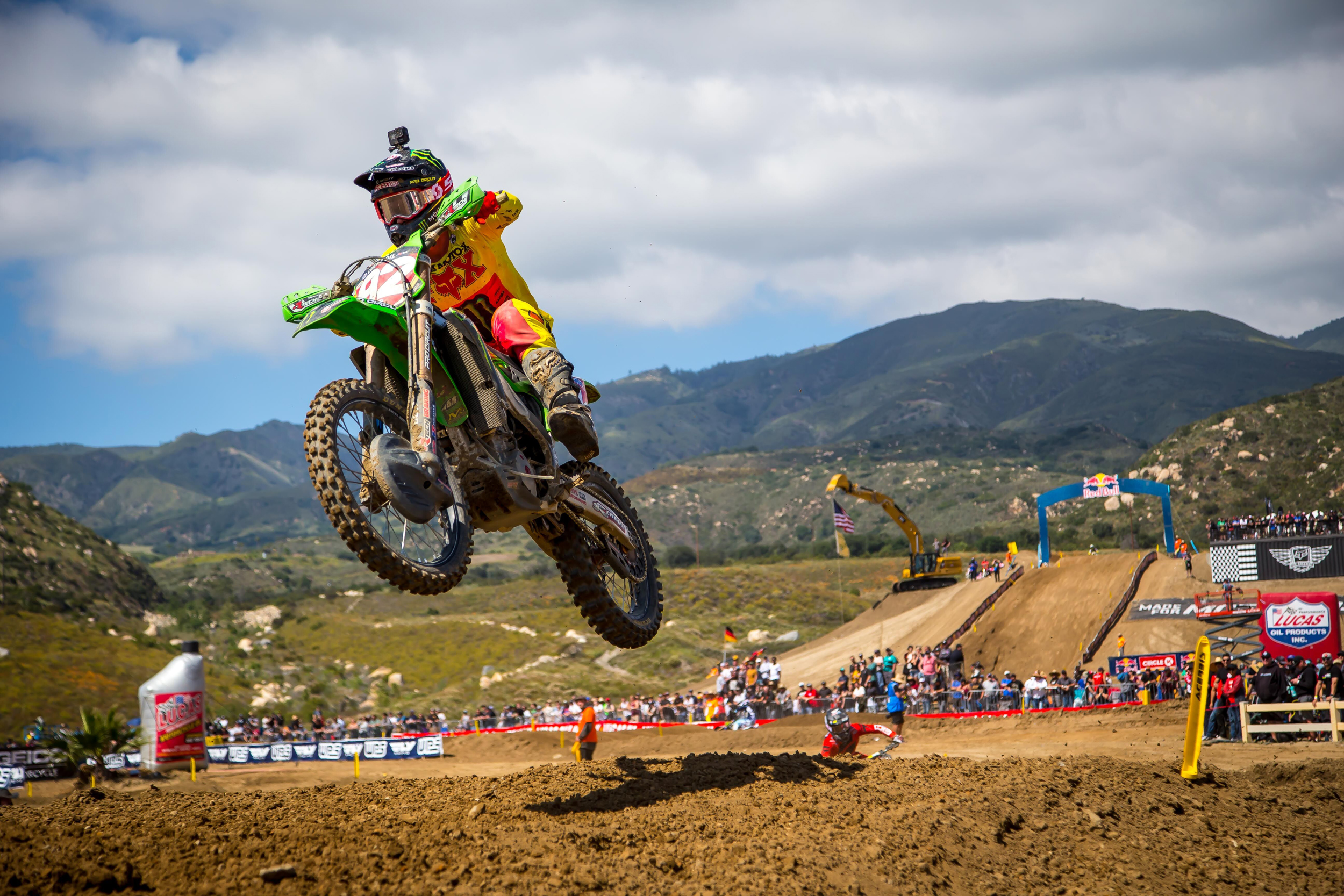 Lucas Oil Fox Raceway National - Cianciarulo's path to victory came via a win in the final moto. Photo- Rich Shepherd