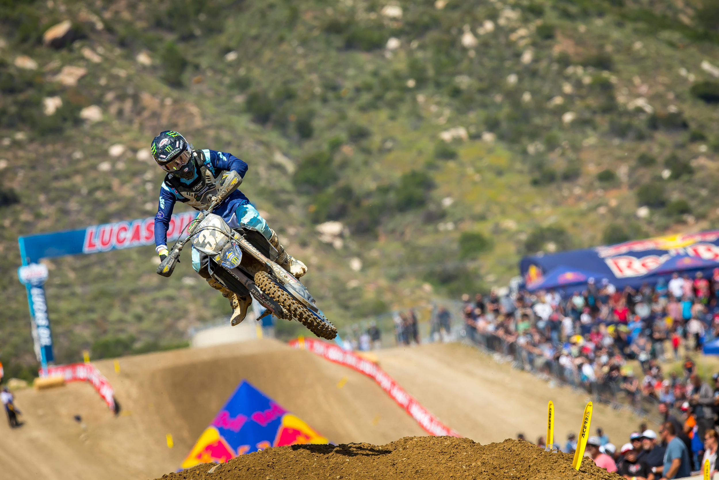 Lucas Oil Fox Raceway National - Cooper won the first moto and earned a second straight runner-up finish. Photo- Rich Shepherd