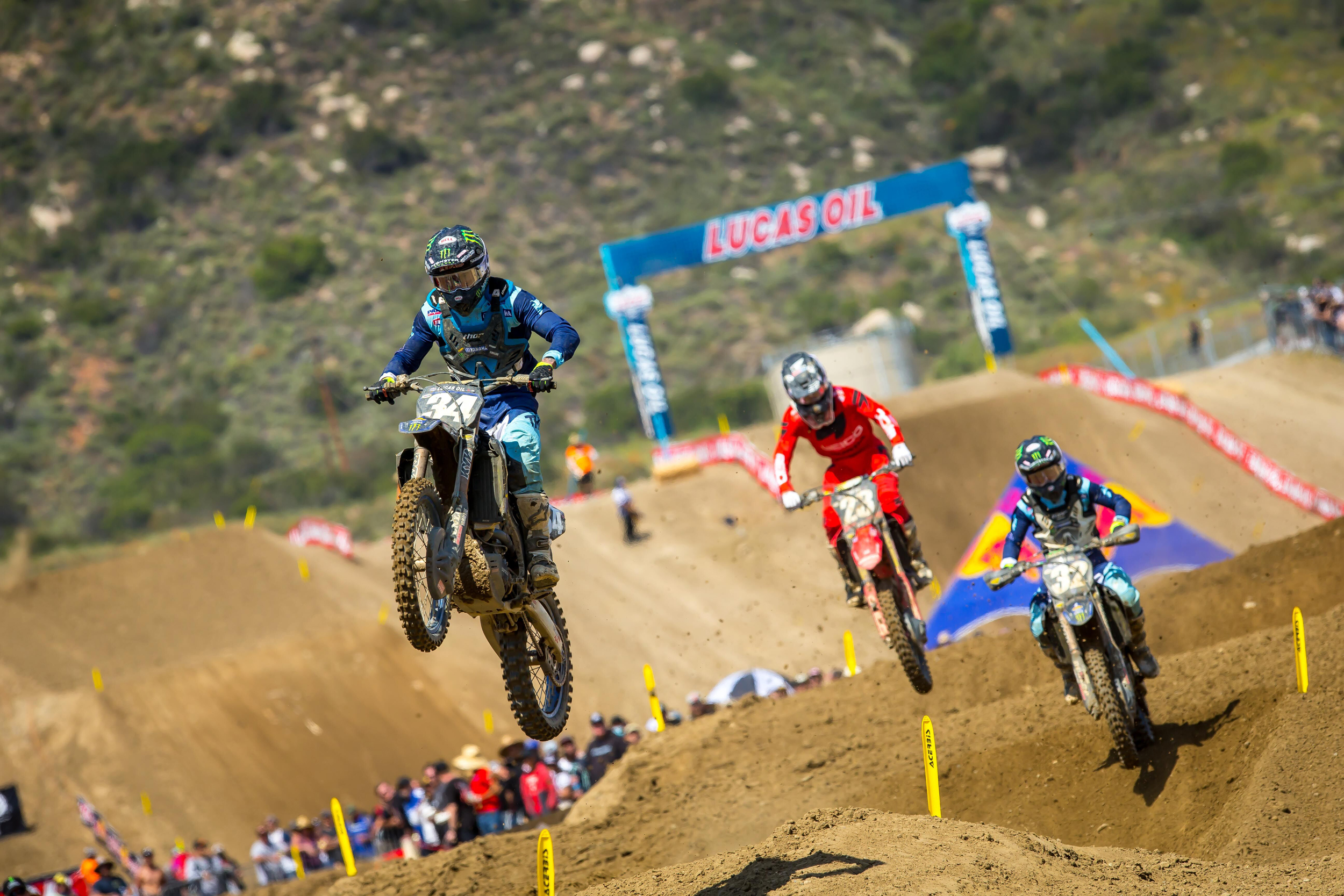 Lucas Oil Fox Raceway National - Ferrandis' strong second moto landed him on the overall podium. Photo- Rich Shepherd
