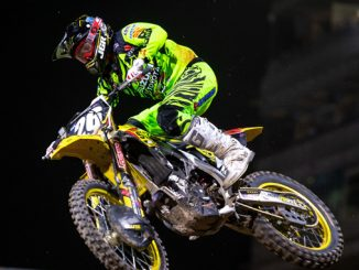 Alex Martin (#26) crossed the checkered flag with a career-best finish - Las Vegas - Monster Energy Supercross