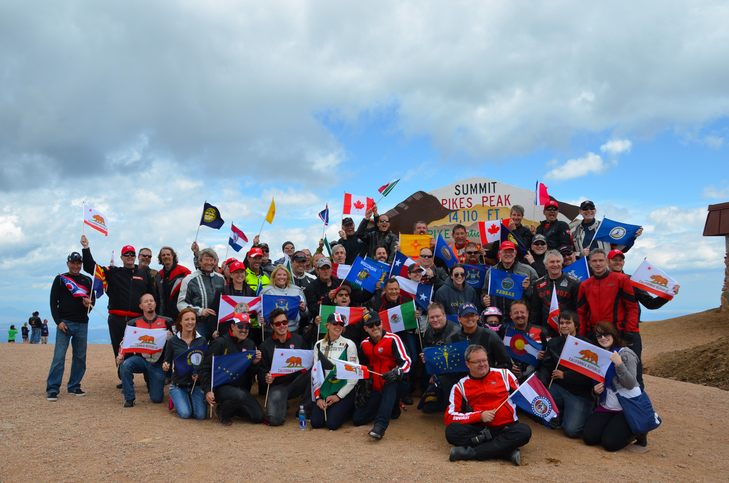 Fans Gather at Pikes Peak Summit